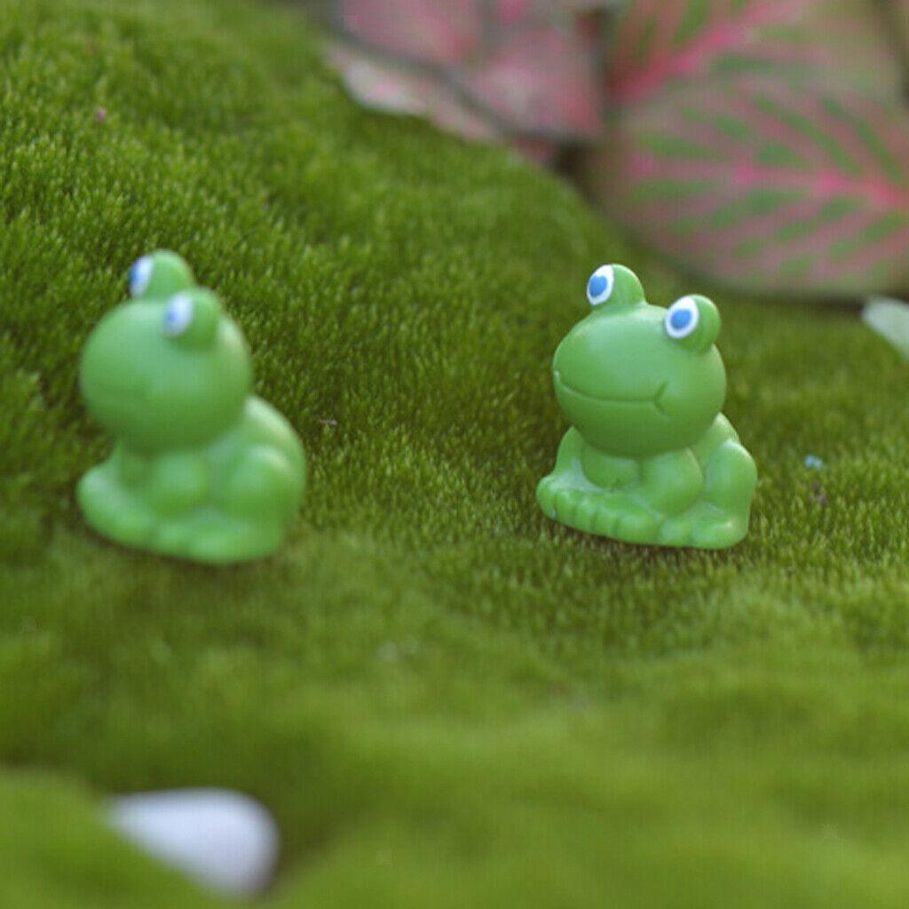 10x Colorful Mini Mushroom Ornament Fairy Garden Figurine Bonsai Decor Landscape