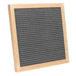 Gray-Felt-Letter-Board-Oak-Frame-Changeable-Cafe-Restaurant-Dinning-Menu