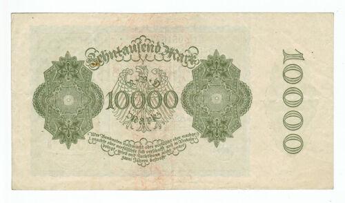 GERMANY REICHSBANKNOTE 10000 MARK 1922