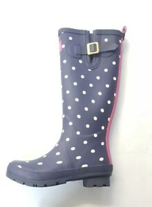 Zu Size Print Uk Joules Spotted Wellies Womens Welly Details 4 9Y2IeWEHbD
