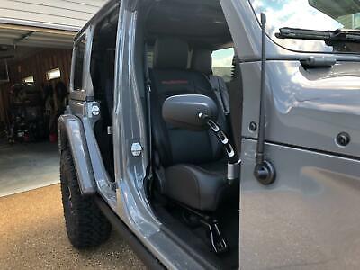 Circular Adventure Door Hinge Mirrors Side View Shake-Proof Door Off Mirror for All Jeep Wrangler JK,JL 07-18 2Pcs Textured Black