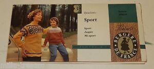 Echantillons Laines Bergere De France Sport Jaspée Saison 1958-1959 Petit & Cie