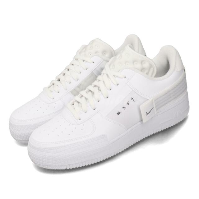 Nike AF1-Type Air Force 1 Triple White Mens Casual Shoes Sneakers CQ2344-101