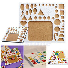 Meetory 15 Pcs Quilling Paper Template Pattern and 5 Pcs Clear PVC Sheets A4 Quilling Art DIY Stencils Paper with Locating Paper Quilling Tool Craft Decoration Set