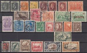 D3062-NEW-ZEALAND-1915-1935-USED-SEMI-MODERN-LOT-CV-590