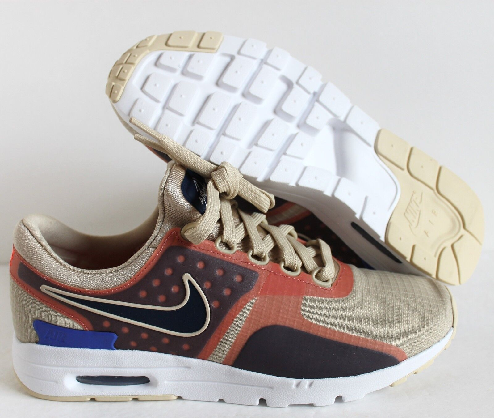 NIKE WOMEN AIR MAX 7 ZERO SI OATMEAL/BINARY BLUE-WHITE SZ 7 MAX [881173-101] 7cb629