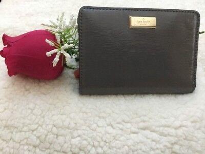 NWT Kate Spade Bixby Place Tellie Bifold Patent Leather Black Wallet WLRU3187