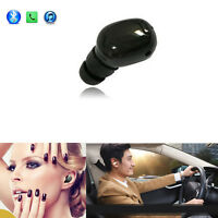 Handsfree Mini In-ear Bluetooth Headset Stereo Headphones Earbuds with Mic