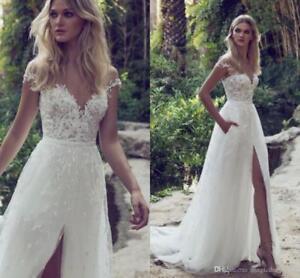 Hot-New-white-ivory-wedding-dress-custom-size-2-4-6-8-10-12-14-16