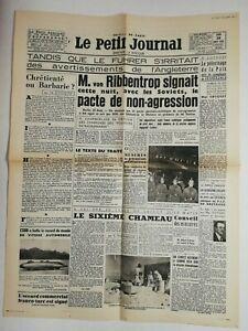 N585-La-Une-Du-Journal-Le-petit-journal-24-aout-1939-ribbentrop-pacte-soviets