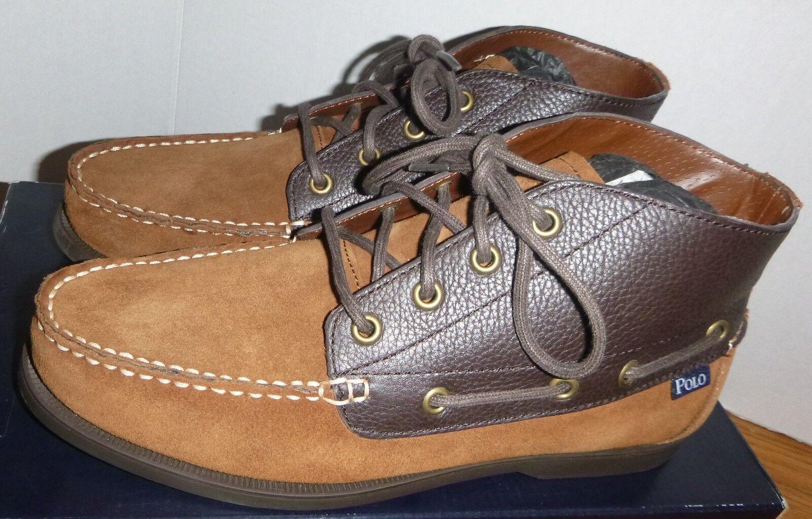 RARE 2015 Polo uomo Ralph Lauren  Barx Chukka 2 -Tone 4eye Ankle stivali Dimensione 8  acquista la qualità autentica al 100%