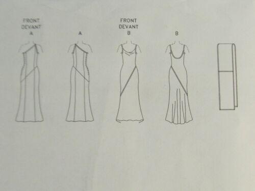 1997 New Tom /& Linda Platt Gown Scarf Pattern Choice 6-16 Vogue 2042 OOP