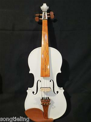 Beautiful white color New model 3/4 electric violin +Acoustic violin