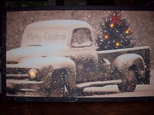 Image Is Loading Merry Christmas Pick Up Truck Radiance Battery Operated