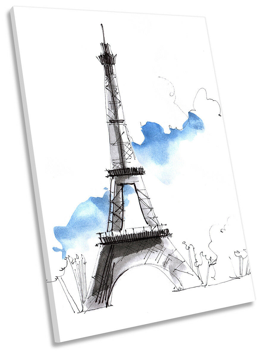 Torre Eiffel Parigi minimalista a muro OPERA OPERA OPERA D'ARTE RITRATTO STAMPA ART b357f4
