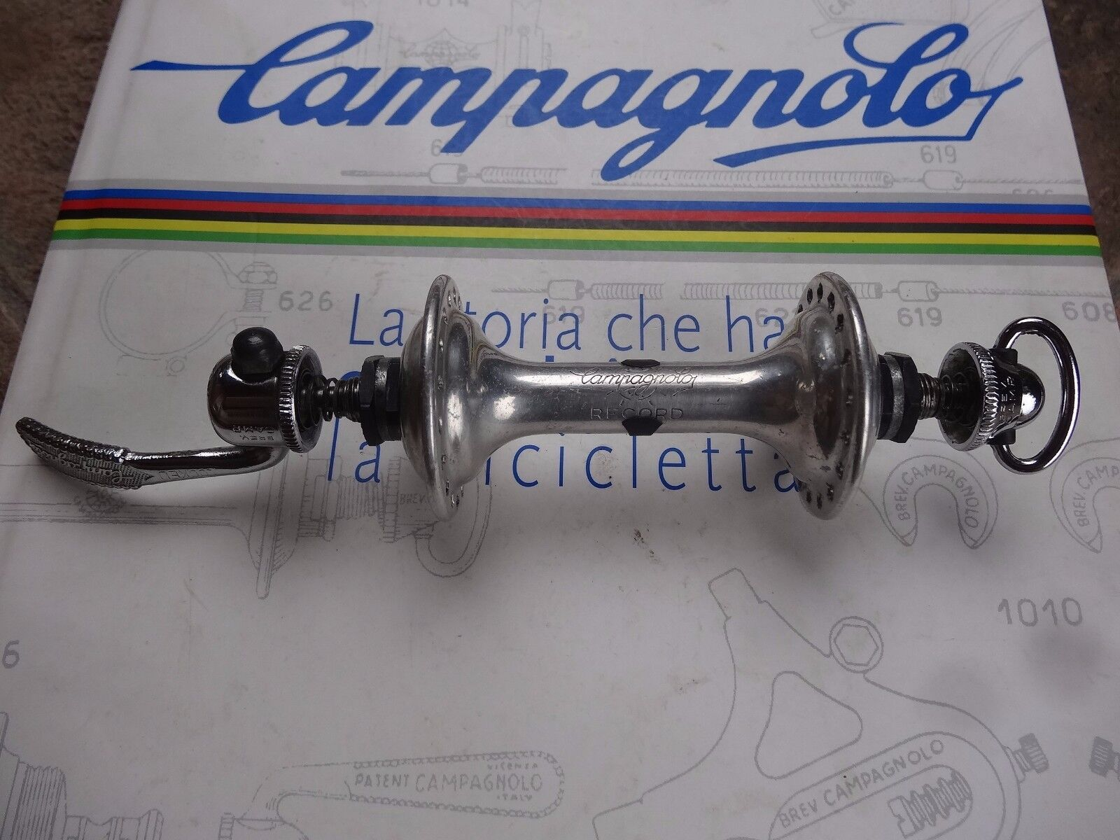 Vintage. Campagnolo. Super Record. front hub. 36 hole. L'Eroica