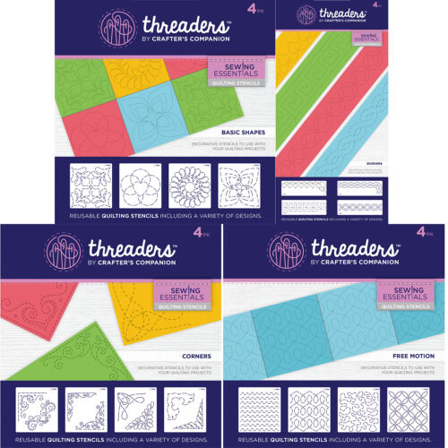 Your choice FREE P/&P Crafter/'s Companion THREADERS Quilting Stencils