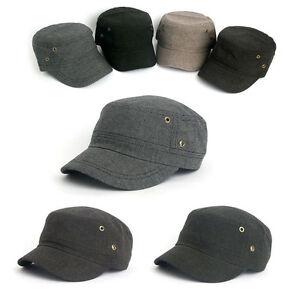Unisexe Hommes Femmes Carreaux Casual Cadet Cap Armée Militaire Stretch Fit Trucker Hats-afficher Le Titre D'origine MatéRiaux De Haute Qualité