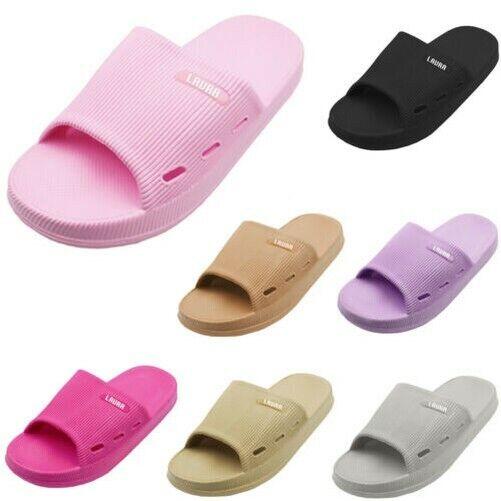 Femmes Souple Coussin Caoutchouc Glissière Léger Confortable Sandale Pastel À