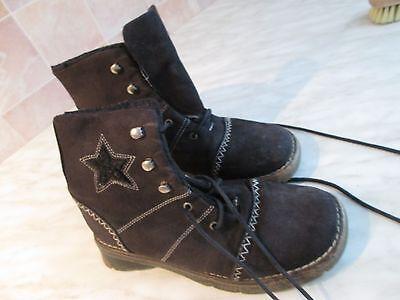 Damen Stiefel,Winterstiefel Schnürschuh Boots Gr. 34