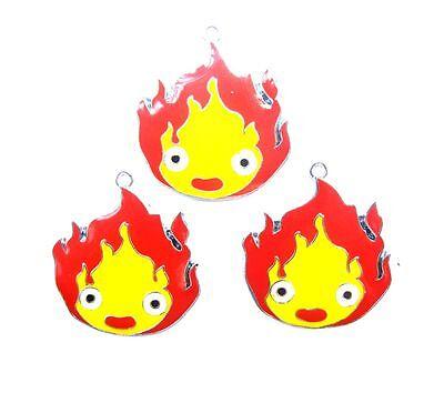 Lot popular cartoon flame baby Metal Charms Pendants DIY Jewellery Making 3cm