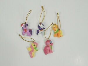 My Little Pony Mini Christmas Holiday Ornaments Lot Of 5 Collectible Keepsake