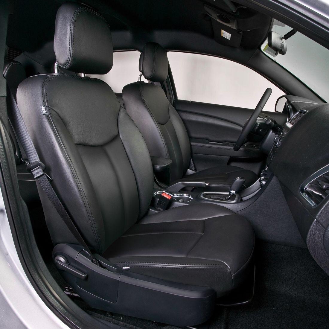 2013 Dodge Avenger Se >> KATZKIN BLACK REPLA LEATHER INTERIOR CVRS FITS 2011 2012 ...