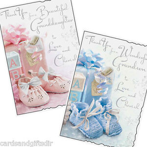 Thank you for grandson or granddaughter greeting card birth image is loading thank you for grandson or granddaughter greeting card m4hsunfo