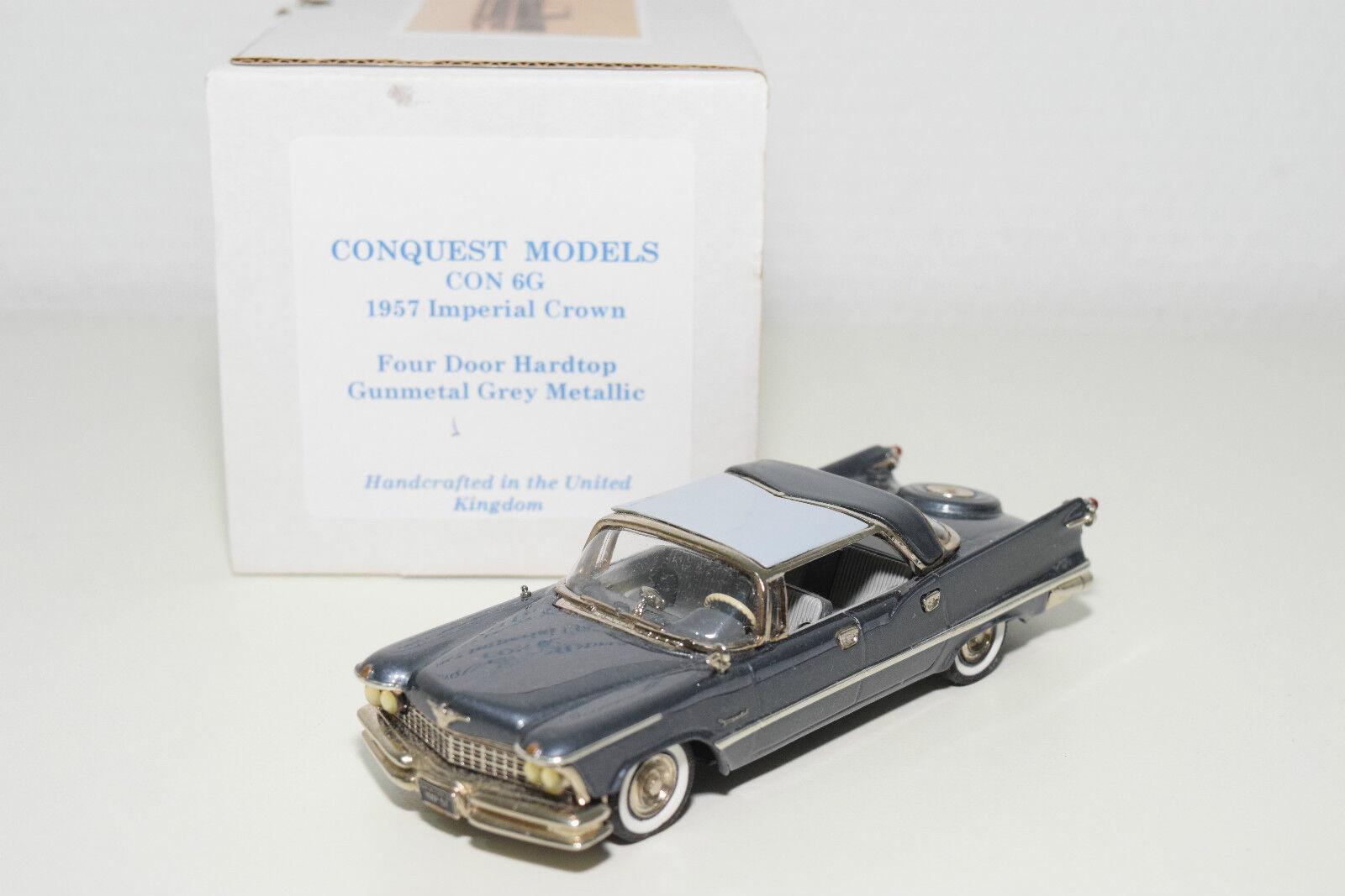 . CONQUEST MODELS 6G IMPERIAL CROWN FOUR DOOR HARDTOP 1957 1957 1957 MET. GREY MINT BOXED 455953