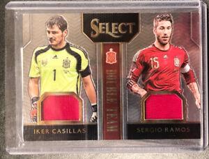 2015 Panini Select Soccer Spain Dual Patch Casillas/Ramos /199!!!