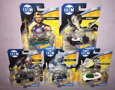 5x 2017 Hot Wheels DC CHARACTER CARS CYBORG / AQUAMAN / JOKER / KATANA / FREEZE