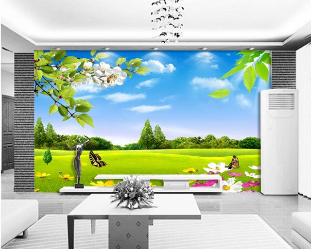 3D Lawn Grün 4002 Wallpaper Murals Wall Print Wallpaper Mural AJ WALL UK Carly