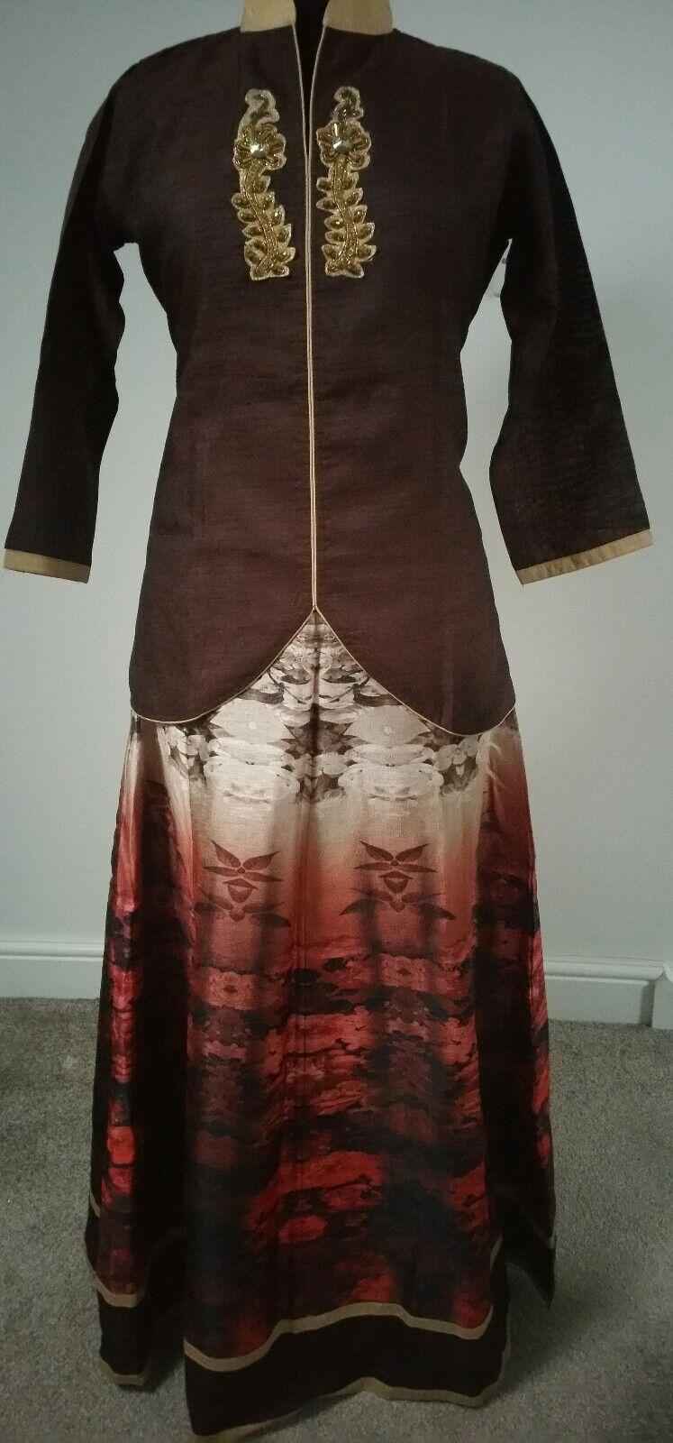 Women Fashion Casual Pakistani Indian Dress Brown Colour