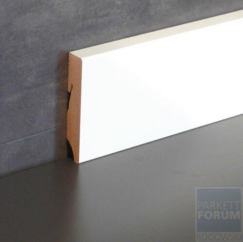 2,45 €//m 80 mm Fußleiste Cube Design MDF weiß lackiert 24 Meter