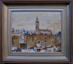 Autrement Olson 1880-1955- vue du atelier sur les Johann Église- Datée 1940-- datiert 1940afficher le titre d`origine