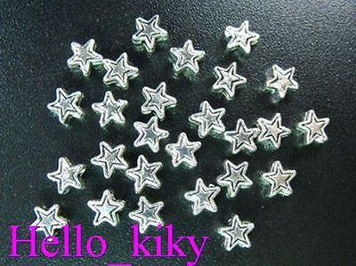 500 pcs Tibetan silver tiny star spacer beads 4mm A218