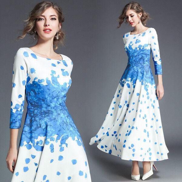 Kleid langes kleid weich blau event élégant hülle 3587