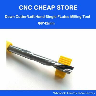 5pc 3.175X22mm Down Cut Cutter Left-handed 1 Flute End Mill Carbide Cutting Tool