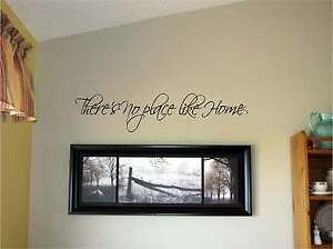 There/'s no place like Home Vinyl Wall Decal Stickers Decor Letters Saying Decor