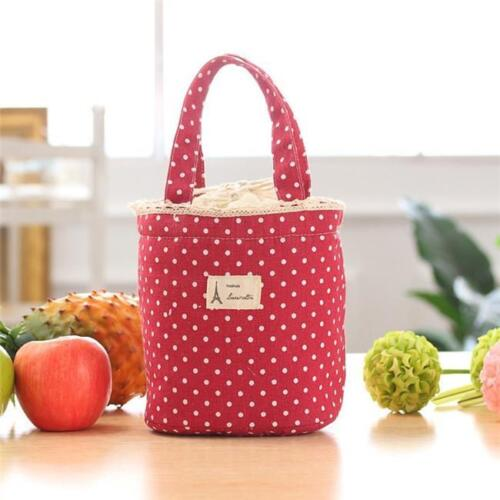 Waterproof Women Kid Insulated Thermal Lunch Box Bag Bento Cooler Tote Picnic QK