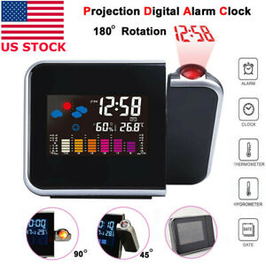 Projection-Digital-Alarm-Time-Clock-Snooze-Weather-Thermometer-LED-LCD-Display