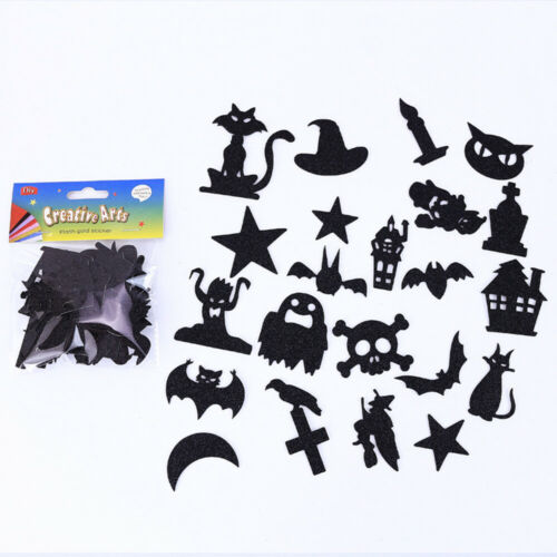 20x Halloween Pumpkin Bat Ghost Glitter EVA Bubble Stickers Decor Kids DIY Craft