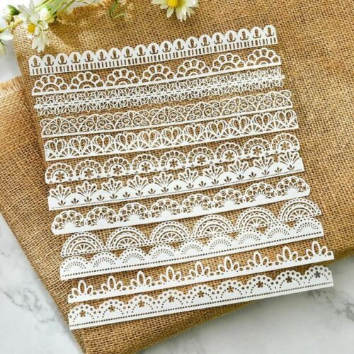White Lace Cutting Dies Edge Papers For DIY Scrapbooking Card Making Decoration