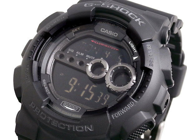 991f3de0a Casio G-Shock Mens Watch GD100-1B GD-100-1BDR Digital Black