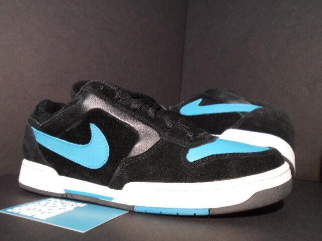 2007 Nike Dunk ZOOM AIR REGIME SB SB SB BLACK PEACOCK blueE TEAL WHITE 314067-031 NEW 8 69a24b