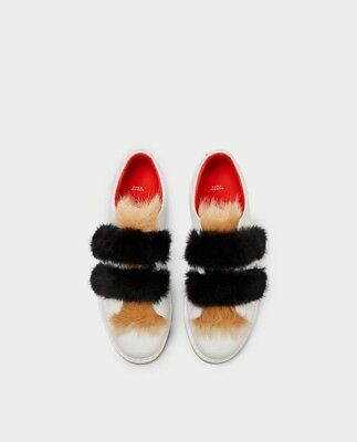 Faux Fur And Hook And Loop Straps Size
