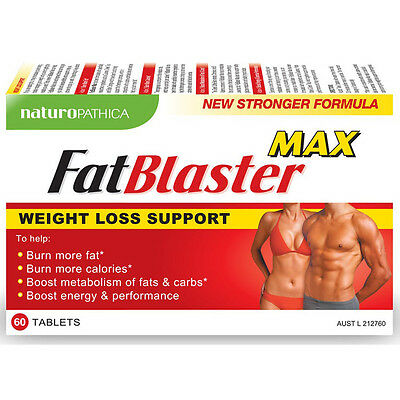 New 60pc FatBlaster Max Weight Loss Tablets Fat Burning Dietary Supplement