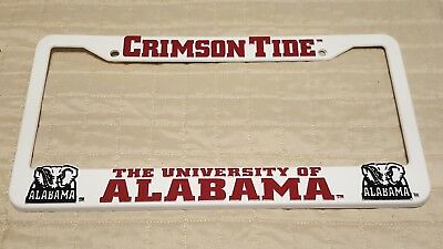 Alabama Crimson Tide Ncaa Raised Letter White Plastic