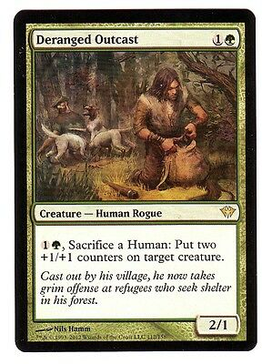 Dark Ascension ~ DERANGED OUTCAST rare Magic the Gathering card