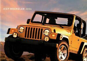 2006 Jeep Wrangler Rubicon Unlimited Sport Model X Dealer Sales Brochure